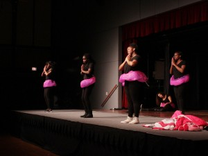 Oswego Image performed their hearts out at Oswego State's annual talent show but did not take home a prize.  Photo provided by Reid Adler