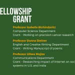 Three professors awarded fellowship grants to continue academic activities