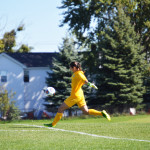 Senior keeper enters record books unaware, focused on team goals