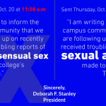 Reports of sexual assault provoke campus-wide emails