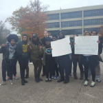 Election results spark student protest, chants across campus
