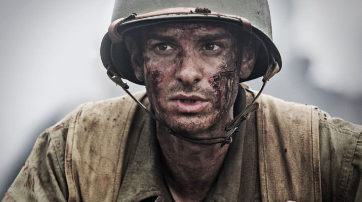 Andrew Garfield portays Desmond Doss, an army medic and Medal of Honor recipient.  Photo provided by hacksawridge.movie
