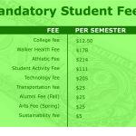 Mandatory fees cost students