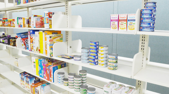 The food pantry, which is located in Room 3 of Penfield Library basement, opened on Nov. 1. (Alexandria Donato | The Oswegonian)