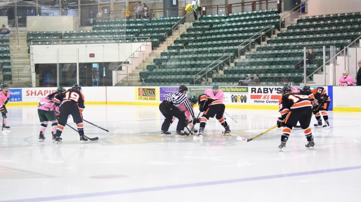 The Lakers and Bengals lined up for the opening draw. Dalton Patterson - The Oswegonian