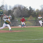 Baseball clinches SUNYAC regular season title with convincing win over SUNY Oneonta