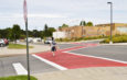 New red crosswalks increase safety for pedestrians, drivers