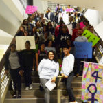 Campus members march to protest violence against women