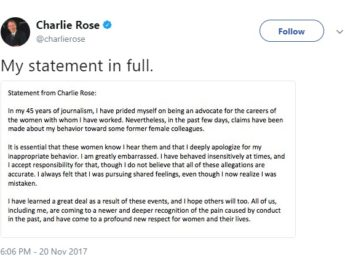 Charlie Rose, Oswego State honorary degree holder, accused of harassing 11 women