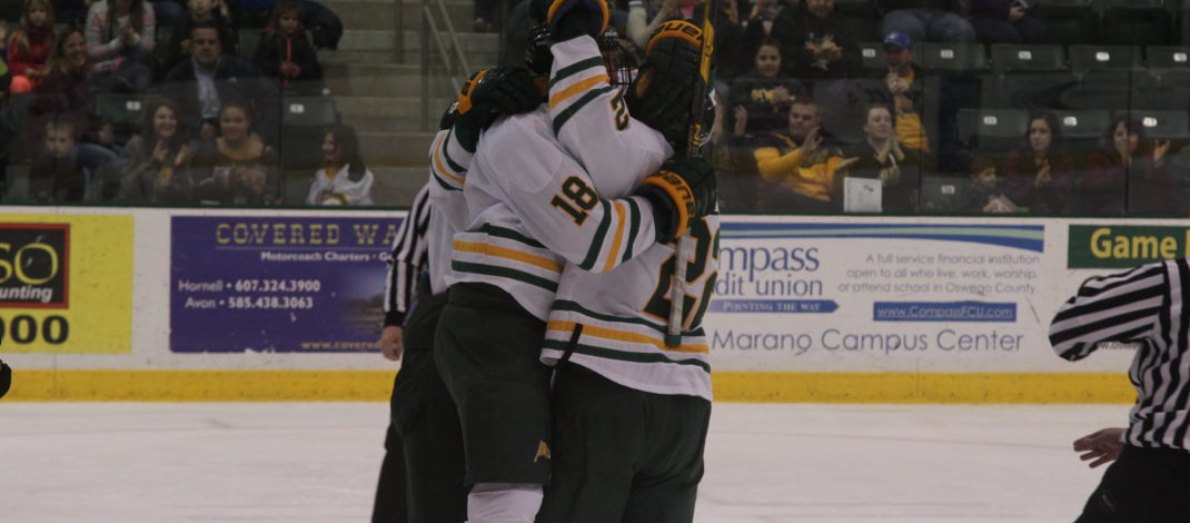 Chaotic third period caps off close 4-3 win over Buffalo State